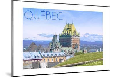 Quebec, Canada - Chateau Frontenac-Lantern Press-Mounted Art Print