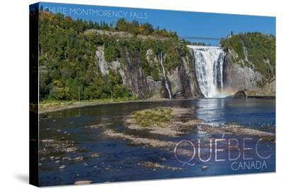 Quebec, Canada - Montmorency Falls-Lantern Press-Stretched Canvas Print