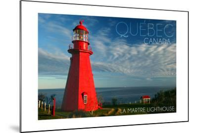 Quebec, Canada - Martre Lighthouse-Lantern Press-Mounted Art Print