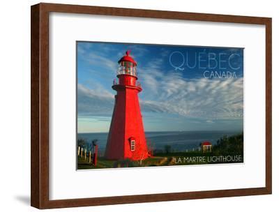 Quebec, Canada - Martre Lighthouse-Lantern Press-Framed Art Print