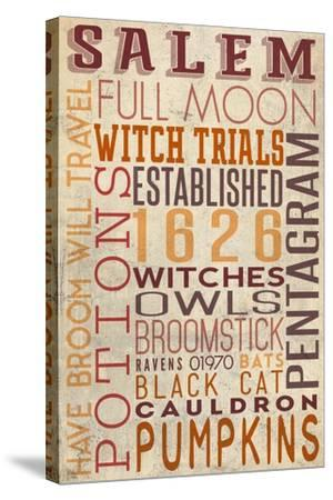 Salem, Massachusetts-Lantern Press-Stretched Canvas Print