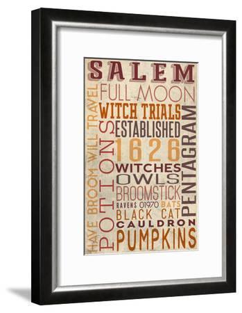 Salem, Massachusetts-Lantern Press-Framed Art Print