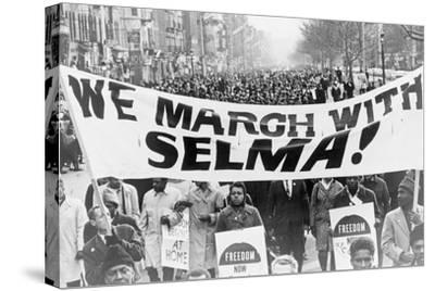 Selma, Alabama - We March with Selma-Lantern Press-Stretched Canvas Print