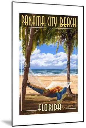 Panama City Beach, Florida - Hammock and Palms-Lantern Press-Mounted Art Print