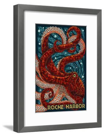Roche Harbor, Washington - Octopus Mosaic-Lantern Press-Framed Art Print