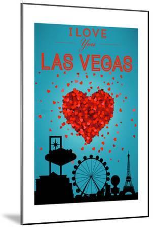 I Love You Las Vegas, Nevada-Lantern Press-Mounted Art Print