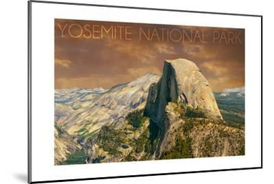 Yosemite National Park, California - Half Dome from Glacier Point-Lantern Press-Mounted Art Print