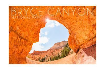 Bryce Canyon National Park, Utah - Natural Bridge-Lantern Press-Framed Art Print