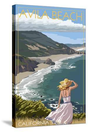 Avila Beach, California - Coast Scene-Lantern Press-Stretched Canvas Print