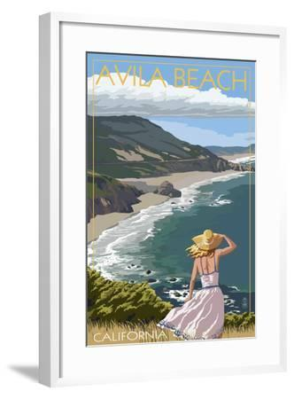 Avila Beach, California - Coast Scene-Lantern Press-Framed Art Print