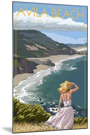 Avila Beach, California - Coast Scene-Lantern Press-Mounted Art Print