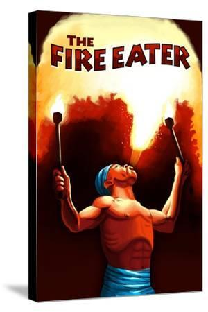 The Fire Eater-Lantern Press-Stretched Canvas Print