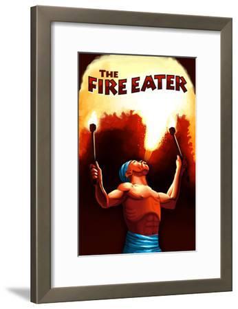 The Fire Eater-Lantern Press-Framed Art Print