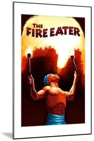 The Fire Eater-Lantern Press-Mounted Art Print