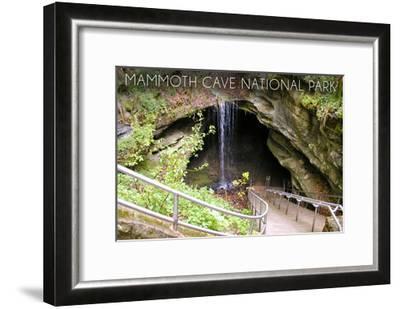 Mammoth Cave, Kentucky - Cave Entrance 1-Lantern Press-Framed Art Print