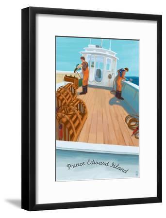 Prince Edward Island - Lobster Boat-Lantern Press-Framed Art Print