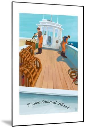 Prince Edward Island - Lobster Boat-Lantern Press-Mounted Art Print