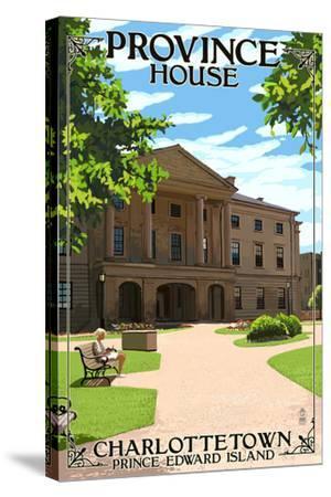 Prince Edward Island - Province House-Lantern Press-Stretched Canvas Print