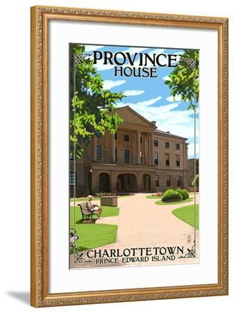 Prince Edward Island - Province House-Lantern Press-Framed Art Print