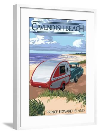 Prince Edward Island - Cavendish Beach and Camper-Lantern Press-Framed Art Print