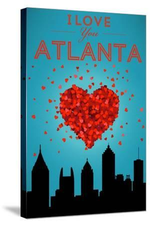 I Love You Atlanta, Georgia-Lantern Press-Stretched Canvas Print