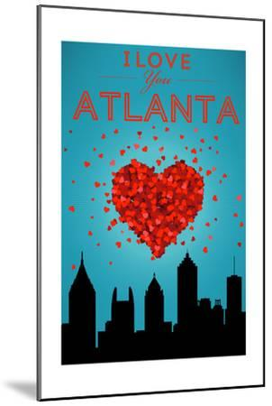 I Love You Atlanta, Georgia-Lantern Press-Mounted Art Print