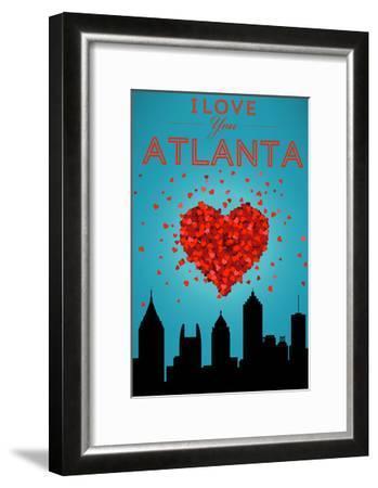 I Love You Atlanta, Georgia-Lantern Press-Framed Art Print