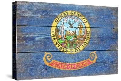 Idaho State Flag - Barnwood Painting-Lantern Press-Stretched Canvas Print