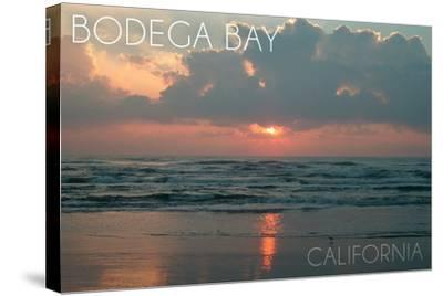 Bodega Bay, California - Ocean at Dawn-Lantern Press-Stretched Canvas Print