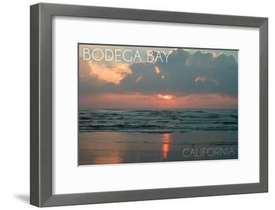 Bodega Bay, California - Ocean at Dawn-Lantern Press-Framed Art Print