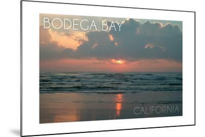 Bodega Bay, California - Ocean at Dawn-Lantern Press-Mounted Art Print