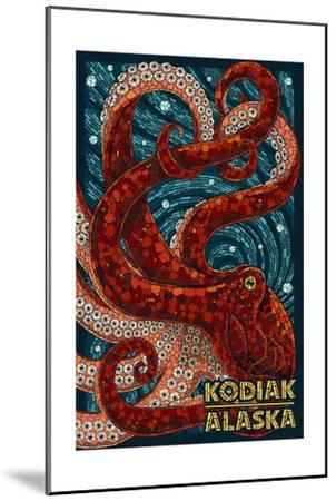 Kodiak, Alaska - Octopus Mosaic-Lantern Press-Mounted Art Print