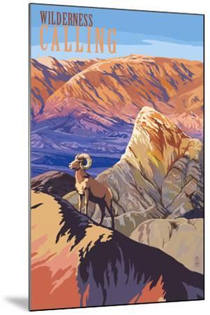 Wilderness Calling - National Park WPA Sentiment-Lantern Press-Mounted Art Print