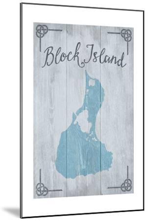 Block Island, Rhode Island - Distressed Sign-Lantern Press-Mounted Art Print