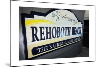 Rehoboth Beach, Delaware - Welcome Sign-Lantern Press-Mounted Art Print