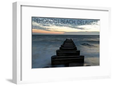 Rehoboth Beach, Delaware - Old Ride-Lantern Press-Framed Art Print