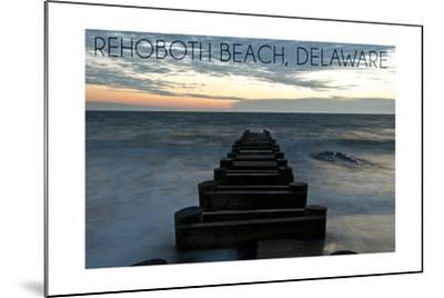 Rehoboth Beach, Delaware - Old Ride-Lantern Press-Mounted Art Print