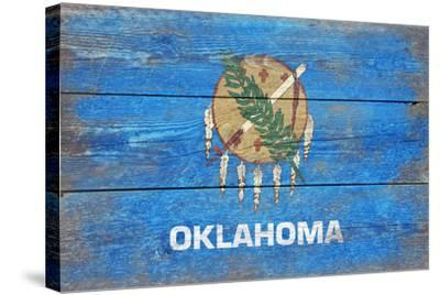 Oklahoma State Flag - Barnwood Painting-Lantern Press-Stretched Canvas Print