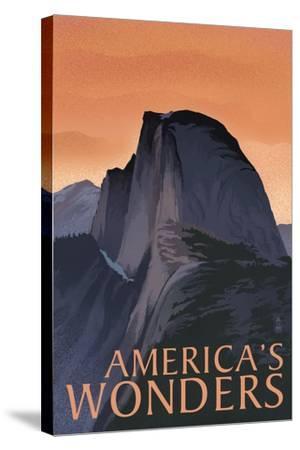America's Wonders - National Park WPA Sentiment-Lantern Press-Stretched Canvas Print