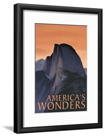 America's Wonders - National Park WPA Sentiment-Lantern Press-Framed Art Print