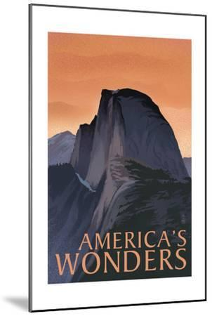America's Wonders - National Park WPA Sentiment-Lantern Press-Mounted Art Print