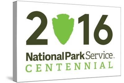 National Park Service Centennial - Logo-Lantern Press-Stretched Canvas Print