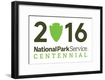 National Park Service Centennial - Logo-Lantern Press-Framed Art Print