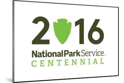 National Park Service Centennial - Logo-Lantern Press-Mounted Art Print