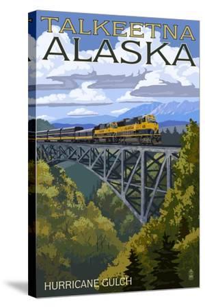 Talkeetna, Alaska - Hurricane Gulch-Lantern Press-Stretched Canvas Print
