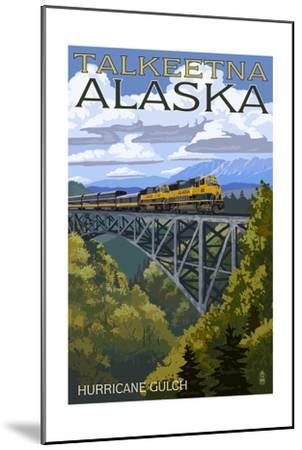 Talkeetna, Alaska - Hurricane Gulch-Lantern Press-Mounted Art Print