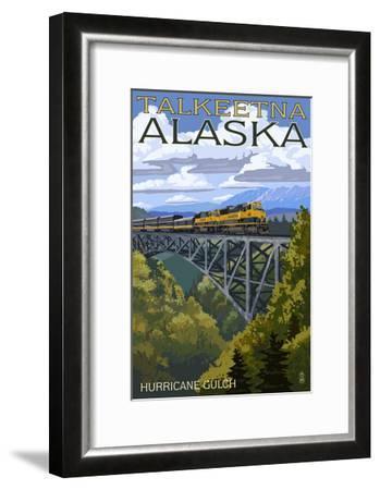 Talkeetna, Alaska - Hurricane Gulch-Lantern Press-Framed Art Print