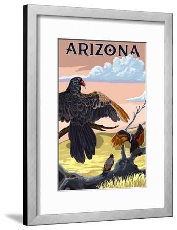 Arizona Vultures-Lantern Press-Framed Art Print