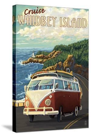 Whidbey Island, Washington Cruise-Lantern Press-Stretched Canvas Print