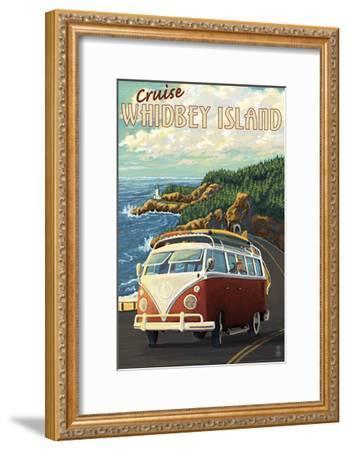 Whidbey Island, Washington Cruise-Lantern Press-Framed Art Print